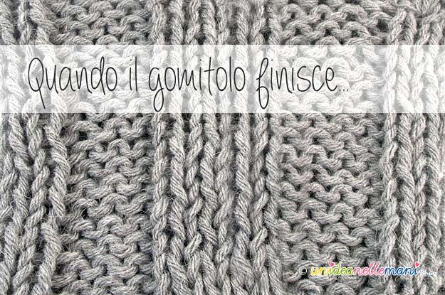 unire i fili in un lavoro, unire i capi dei gomitoli, lavori a maglia, lavori ad uncinetto