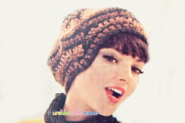 cappello ad uncinetto, cappelli vintage, cappelli anni 60, cappelli originali anni 60,