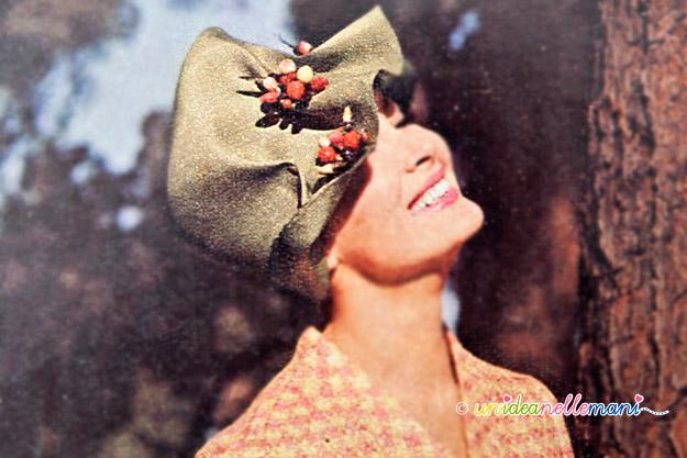 cappelli vintage, cappelli anni 60, cappelli originali anni 60, cappelli per primavera,