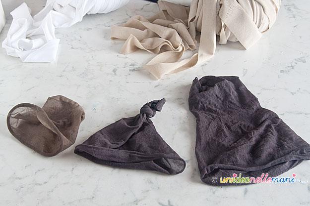 collant rotti, vecchie calze, riciclare collant, riciclare le calze,