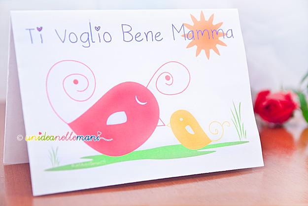 spesso Festa della Mamma: Biglietti Auguri per Bambini AN68