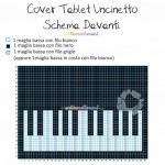 Cover Tablet Uncinetto - Schema Davanti