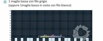 Cover Tablet Uncinetto - Schema Davanti