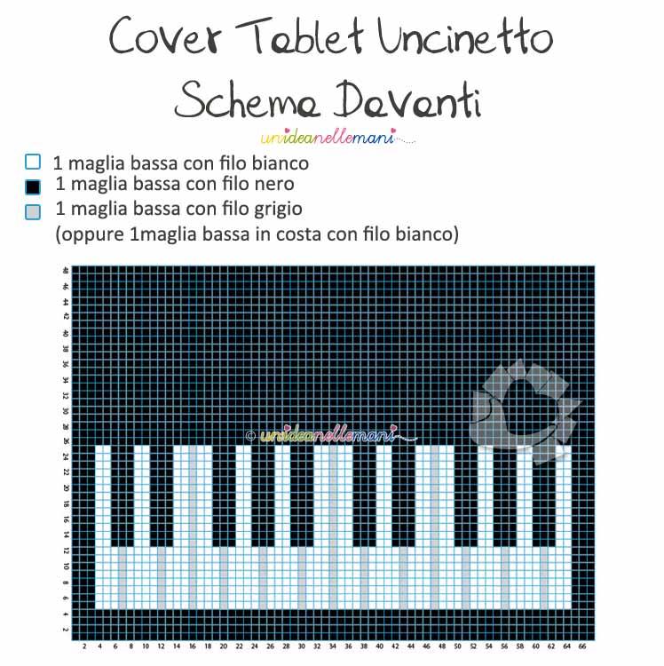 schema uncinetto cover ipad, schema uncinetto custodia tablet, cover ipad uncinetto, cover tablet uncinetto,