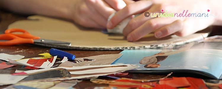 riciclo giornali, riciclo carta, lavoretti carta giornali, riciclare riviste, collage con la carta