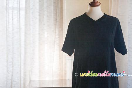 riciclo magliette, rinnovare t-shirt, decorare magliette,