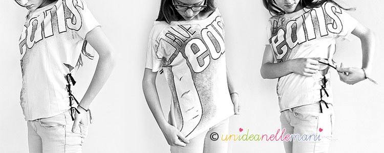 trasformare una t-shirt, riciclo t-shirt, trasformare una maglietta,