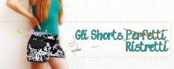 shorts fai da te, stringere un paio di shorts, cucire shorts,