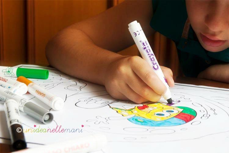 disegni da colorare, lavoretti per bambini, esperienza creativa,