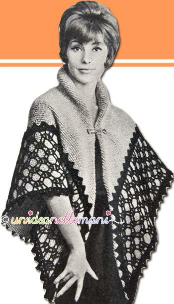 mantella di lana, modello mantella, mantella vintage, cucire mantella, mantella maglia,