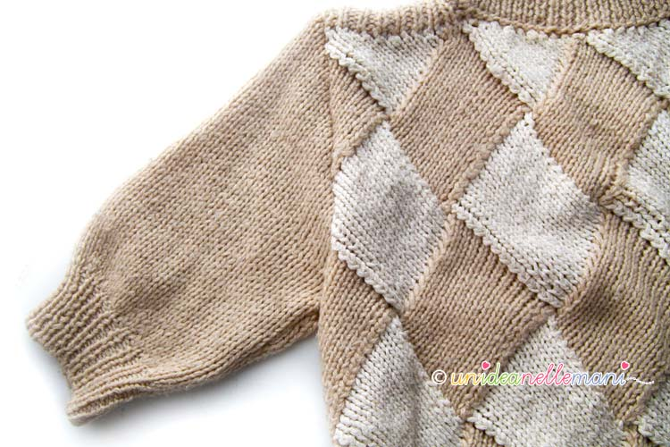 maglia entrelac maniche