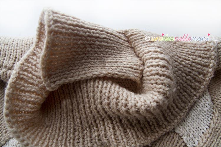 collo a maglia, modello collo a maglia, collo ai ferri, modello facile collo, spiegazioni collo,