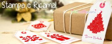 Stampabili di Natale: Gift Tags e Biglietti a punto croce