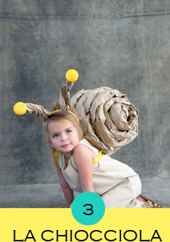 costume-chiocciola, costume lumaca, costumi bambini fai da te, costumi carnevale fai da te,