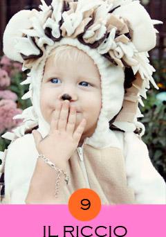 costume-da-riccio, costume bambini piccoli, costumi animali carnevale, costumi animali fai da te, costumi fai da te bambini,