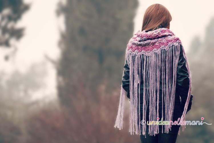 scaldacollo uncinetto, scaldacollo fai da te, scaldacollo a maglia, scaldacollo lana, scaldacollo donna, sciarpa uncinetto, sciarpa frange
