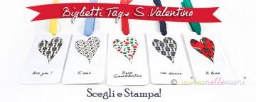 6 Biglietti di San Valentino da Stampare e Personalizzare