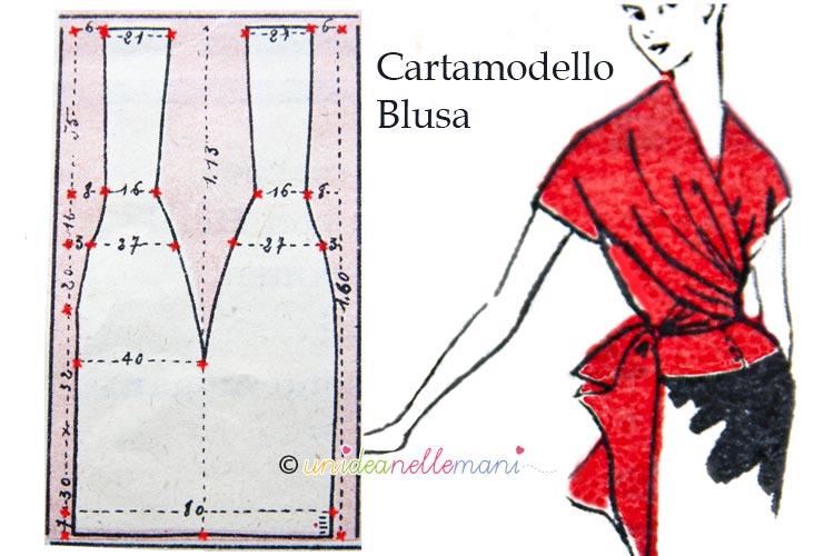 Cartamodello gratis per busa o camicetta donna - Modelli di ghirlanda stampabili ...