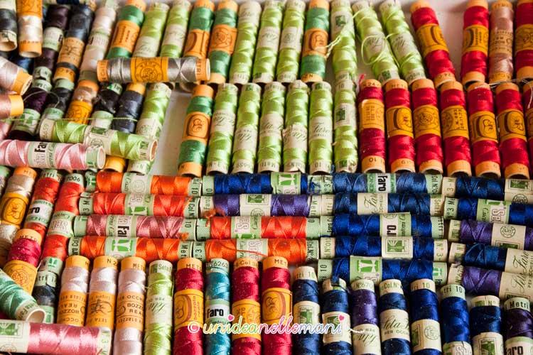 filati, fili, filo per cucire, filo per ricamare, spolette filo,