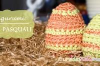 uova polistirolo, uova di pasqua decorate, uova di pasqua riveste, uova di pasqua uncinetto,