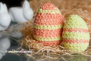 uova polistirolo, uova polistirolo decorate, uova polistirolo rivestite uncinetto,