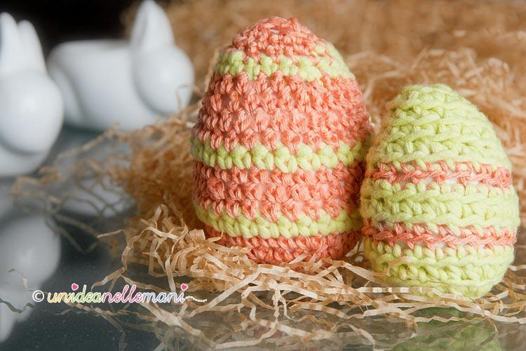 uova di pasqua all'uncinetto, uova polistirolo, uova polistirolo decorate, uova polistirolo rivestite uncinetto, uova di pasqua amigurumi,