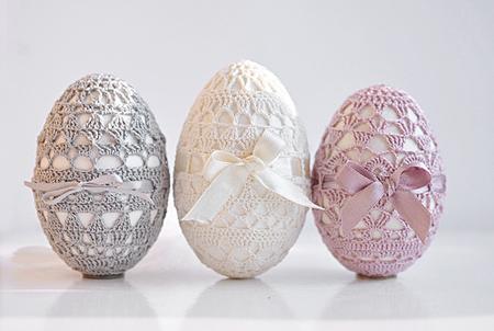 uova di pasqua all'uncinetto, uova pasqua rivestite, decorazioni pasqua uncinetto, uova di pasqua decorate,