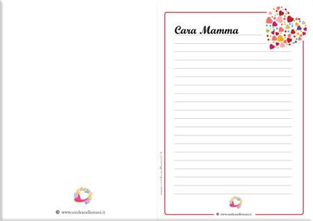lettere da scrivere alla mamma, letterina per la mamma, letterina mamma da stampare, lettera mamma da scaricare, poesia mamma,