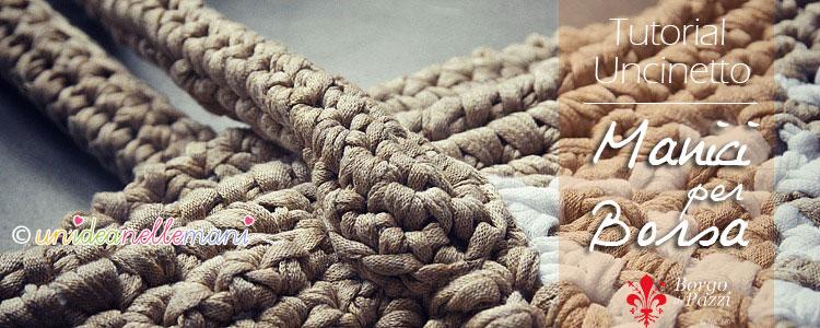 manici borsa lavorati all'uncinetto
