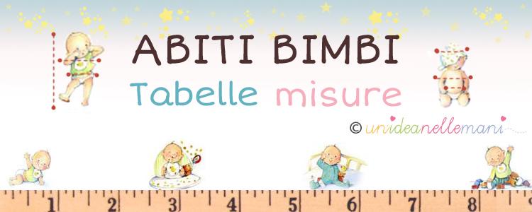 Tabelle Misure Bambini Per Abbigliamento E Lavori A Maglia