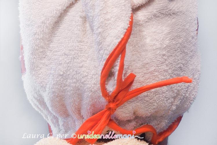 cuffia turbante asciugacapelli fai da te