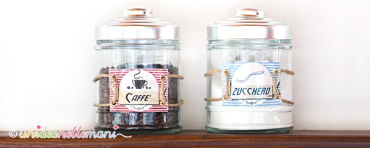 Etichette per barattoli zucchero caff da stampare for Porta zucchero caffe sale