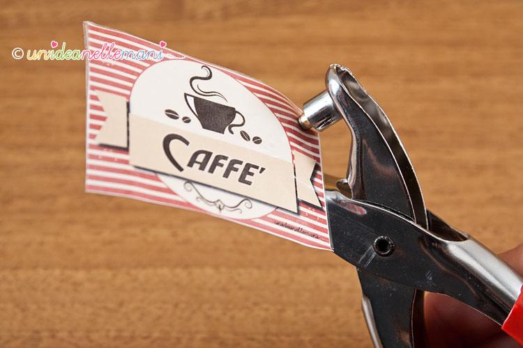 etichette zucchero e caffè con occhielli