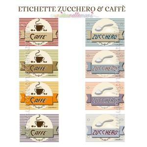 etichette barattoli zucchero e caffè da stampare