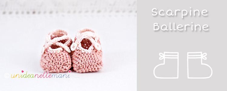 scarpine uncinetto neonato