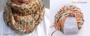 Come fare una sciarpa a maglia Tre-in-Uno