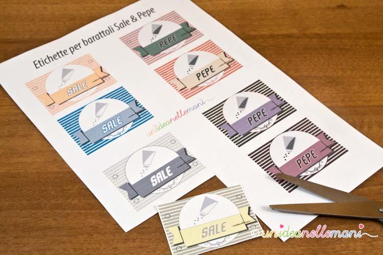 Favoloso Etichette per barattoli da cucina da stampare DF68