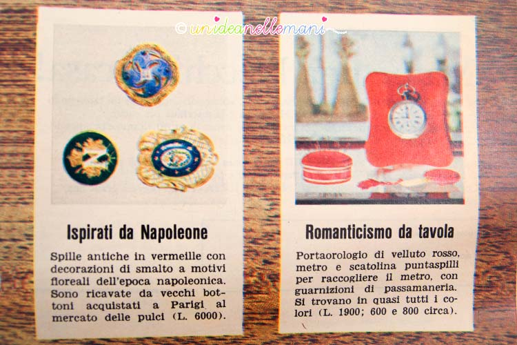 oggetti vintage bottoni e portafoto
