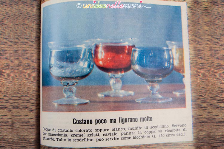 regali vintage bicchieri