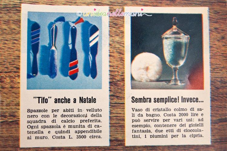 regali vintage spazzole e sali da bagno