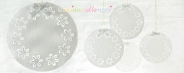 Decorazioni di Natale fai da te con i piatti di plastica
