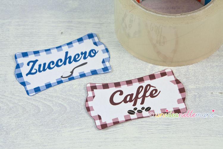 etichette fai da te per barattoli di cucina 1
