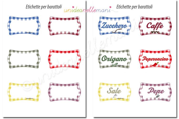 Assez Etichette per barattoli di vetro da stampare gratis TV68