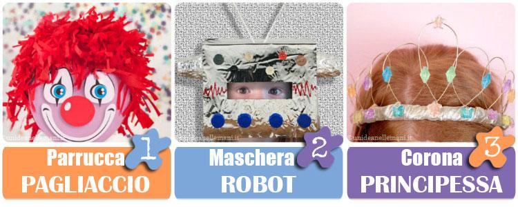 maschere-carnevale-pagliaccio-robot-principessa