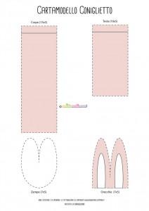 Cartamodello per coniglietto colorato