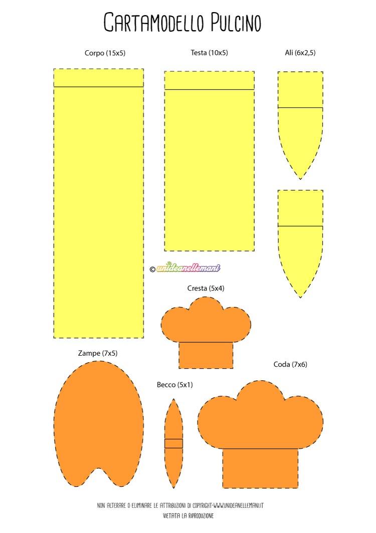 Cartamodelli Gallina In Feltro O Carta Da Stampare E Colorare