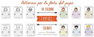 12  Letterine Festa del Papà da stampare e colorare