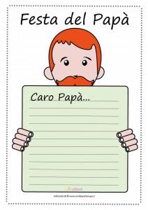 letterina da stampare festa del papa