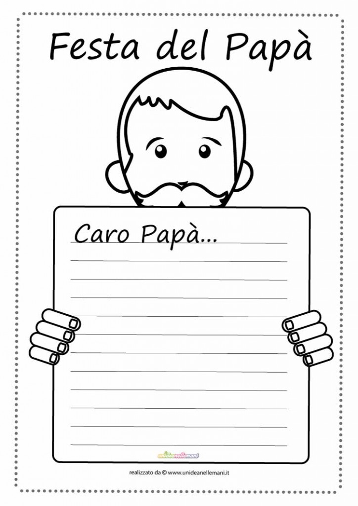 Letterina Festa Del Papa Da Colorare A Unideanellemani