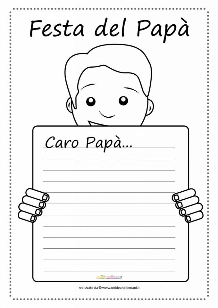 Letterina da stampare e colorare festa del papa e for Immagini festa del papa da colorare